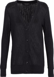Rag & Bone Woman Open-knit Cashmere Cardigan Black