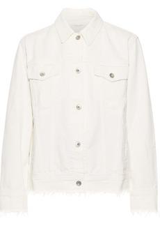 Rag & Bone Woman Oversized Distressed Denim Jacket White