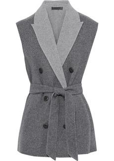 Rag & Bone Woman Pearson Double-breasted Wool-blend Felt Vest Gray