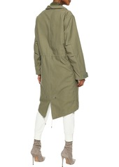 Rag & Bone Woman Penelope Faux Shearling-trimmed Cotton-canvas Hooded Parka Leaf Green