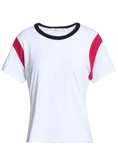 Rag & Bone Woman Percy Color-block Pima Cotton-jersey T-shirt White