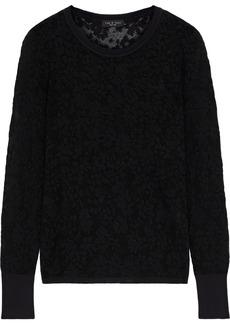 Rag & Bone Woman Perry Burnout-effect Cotton-blend Sweater Black
