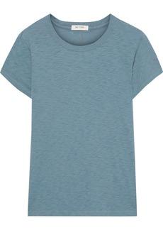 Rag & Bone Woman Pima Cotton-jersey T-shirt Teal