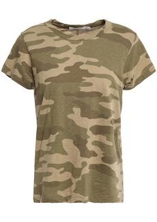 Rag & Bone Woman Printed Slub Pima Cotton-jersey T-shirt Army Green