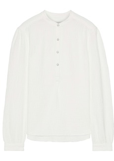 Rag & Bone Woman Prairie Crinkled-cotton Top Ivory