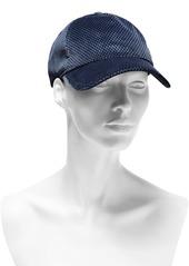 Rag & Bone Woman Printed Cotton-blend Velvet Baseball Cap Blue