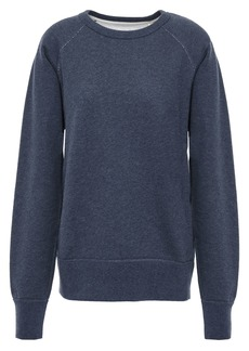 Rag & Bone Woman Printed French Cotton-terry Sweatshirt Indigo