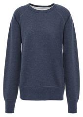 Rag & Bone Woman Printed French Cotton-terry Sweatshirt Indigo
