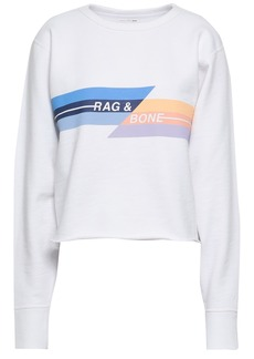Rag & Bone Woman Printed French Cotton-terry Sweatshirt White