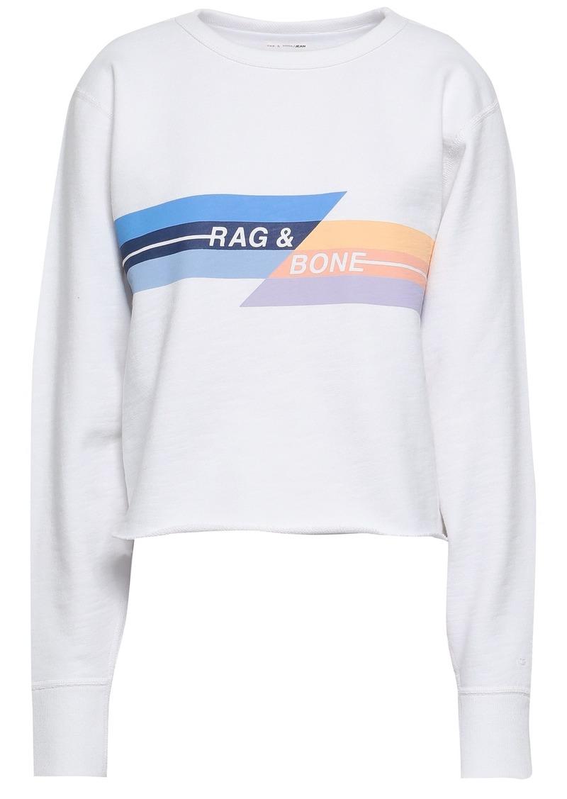 Rag & Bone Woman Printed French Cotton-terry Sweatshirt White