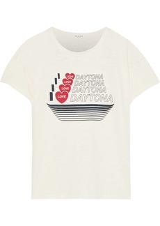 Rag & Bone Woman Printed Slub Cotton-jersey T-shirt Ecru