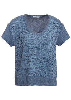 Rag & Bone Woman Ramona Mélange Stretch-knit Top Blue