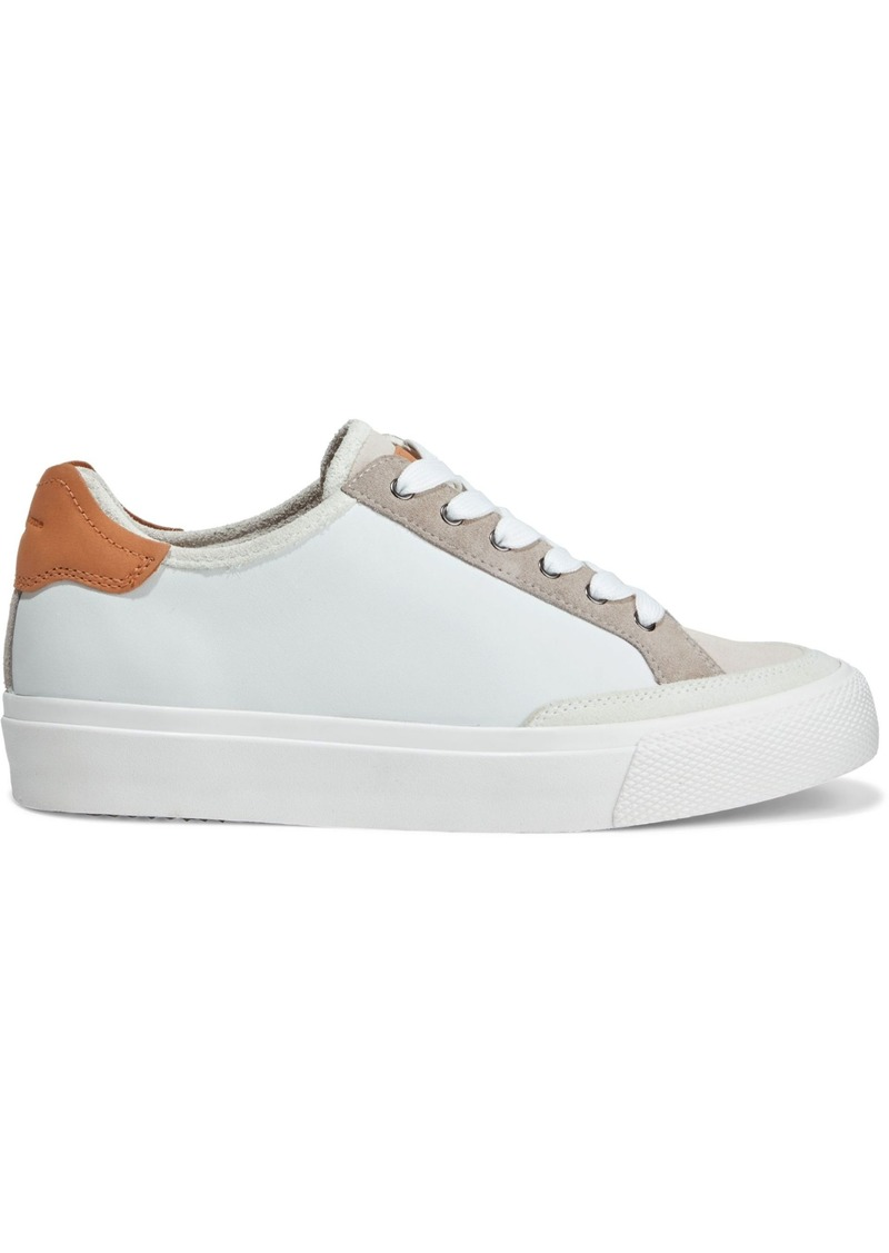 Rag & Bone Woman Rb Army Color-block Leather And Suede Sneakers White