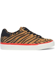 Rag & Bone Woman Rb Army Low Leather-trimmed Tiger-print Suede Sneakers Animal Print