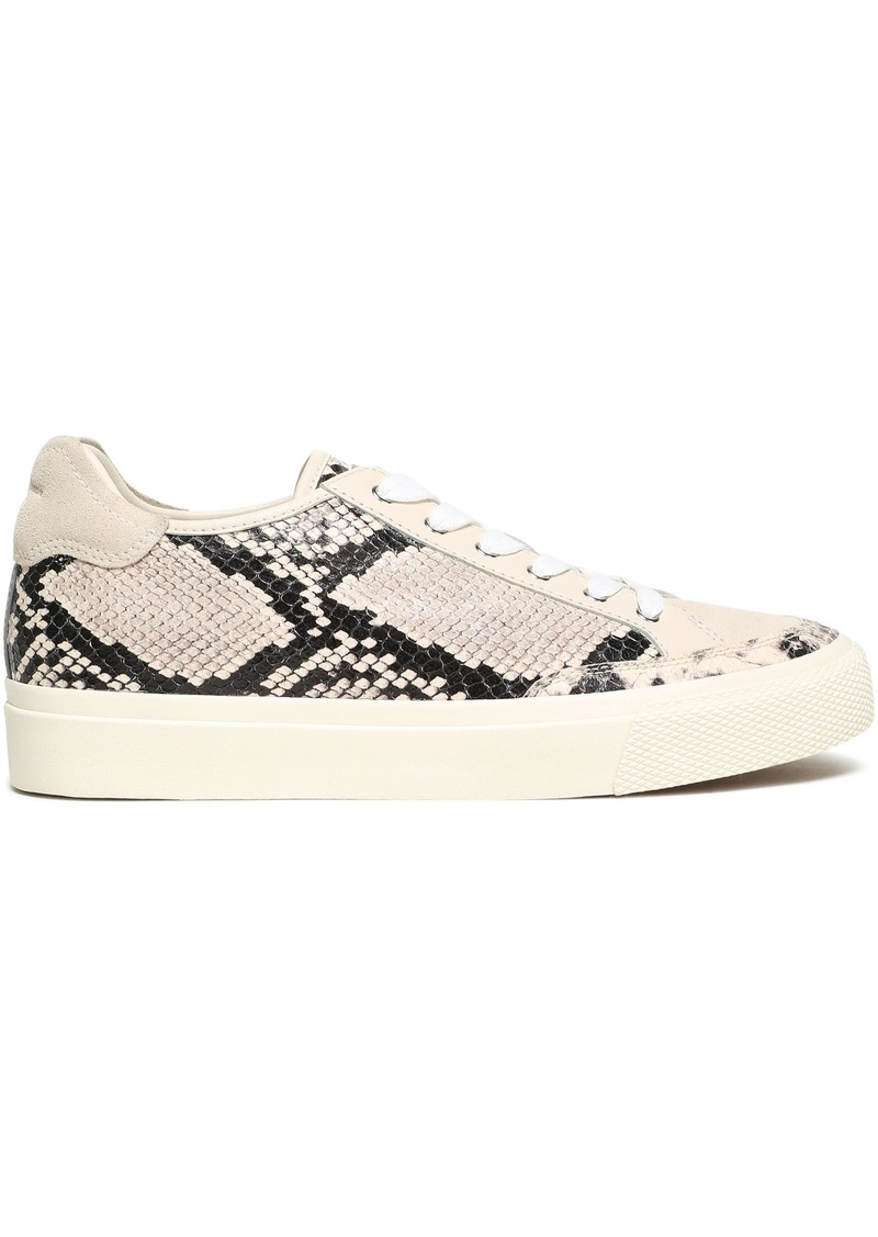 Rag & Bone Woman Rb Army Low Suede-paneled Snake-effect Leather Sneakers Animal Print