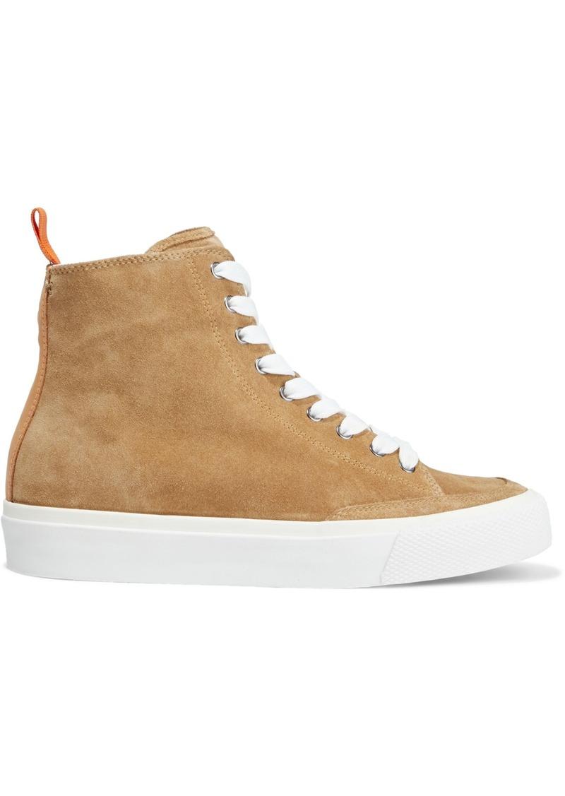 Rag & Bone Woman Rb Army Nubuck-trimmed Suede High-top Sneakers Sand