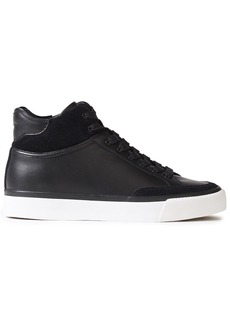 Rag & Bone Woman Rb Army Suede-trimmed Leather High-top Sneakers Black