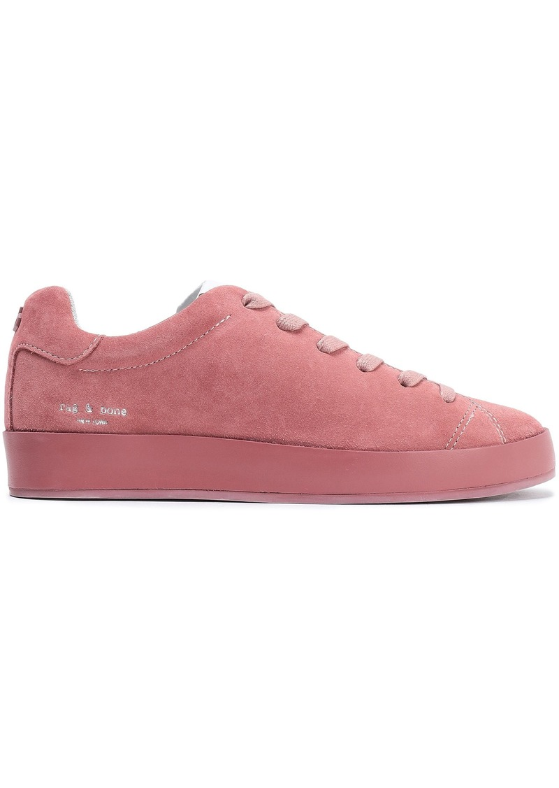 Rag & Bone Woman Rb1 Low Suede Sneakers Antique Rose