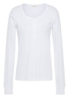 Rag & Bone Woman Ribbed Cotton And Modal-blend Jersey Top White