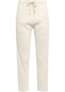 Rag & Bone Woman 3d Ribbed Cotton Track Pants Cream