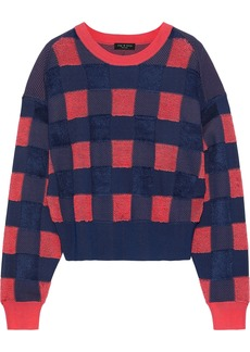 Rag & Bone Woman Ridley Gingham Terry Sweater Coral