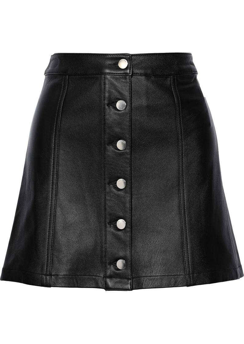 Rag & Bone Woman Rosie Leather Mini Skirt Black
