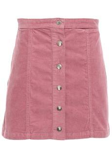 Rag & Bone Woman Rosie Stretch Cotton-corduroy Mini Skirt Pink