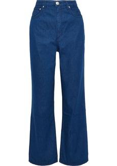 Rag & Bone Woman Ruth High-rise Straight-leg Jeans Mid Denim