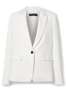 Rag & Bone Woman Grosgrain-trimmed Cady Blazer White