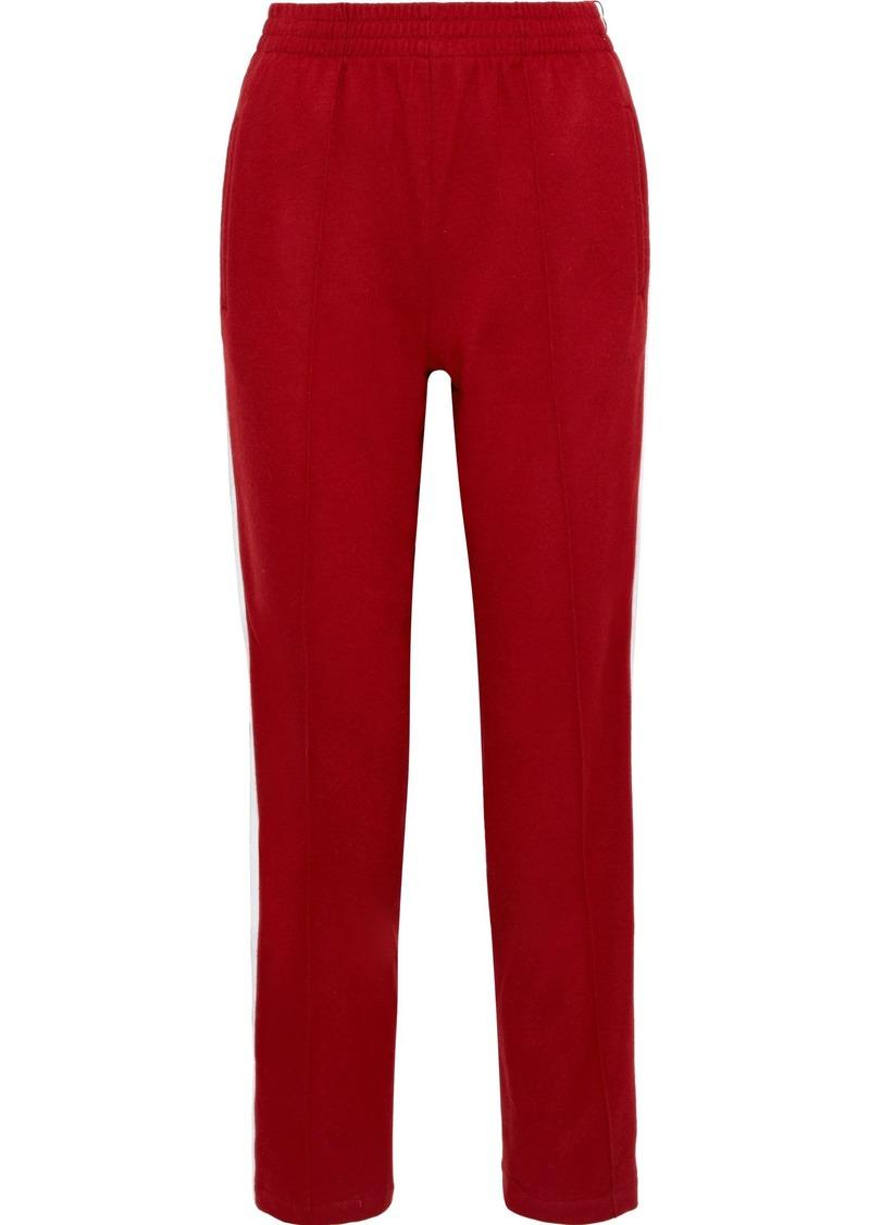 Rag & Bone Woman Rylie Wool Straight-leg Pants Crimson