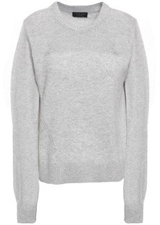 Rag & Bone Woman Sabreena Open Knit-paneled Mélange Cashmere Sweater Light Gray