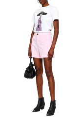 Rag & Bone Woman Sage Stretch-wool Shorts Pastel Pink