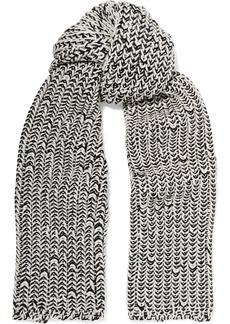 Rag & Bone Woman Sandra Marled Wool-blend Scarf Ecru