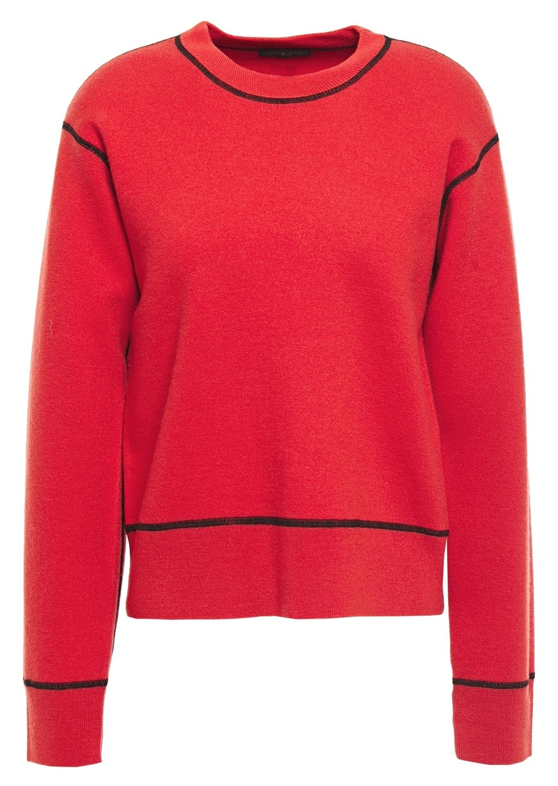 Rag & Bone Woman Shannon Wool-blend Sweater Red