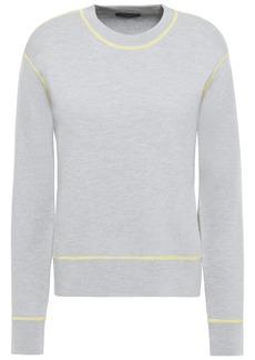 Rag & Bone Woman Shannon Wool-blend Sweater Light Gray