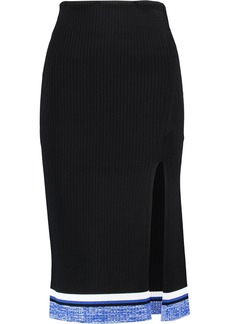 Rag & Bone Woman Sheridan Ribbed Stretch-knit Skirt Black