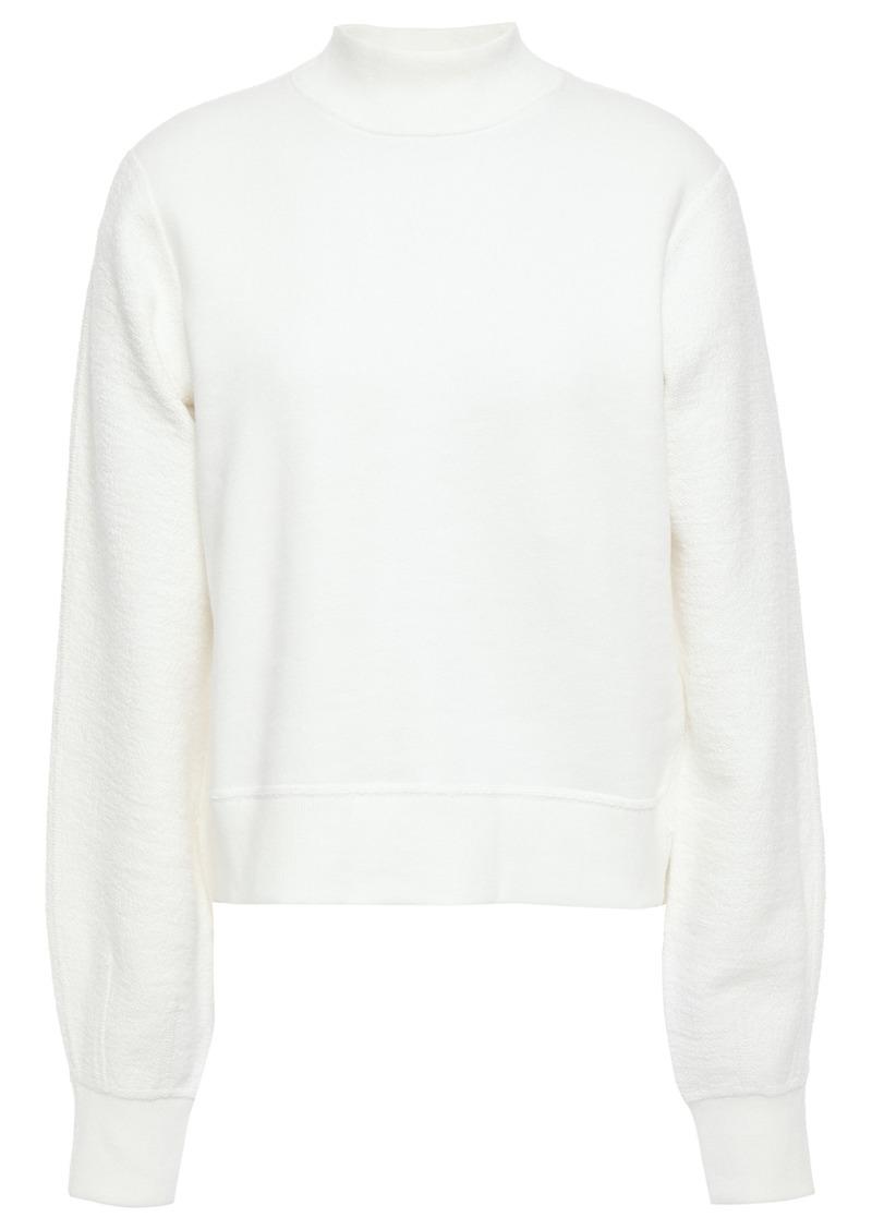 Rag & Bone Woman Sherie Paneled Cotton-terry Sweatshirt White