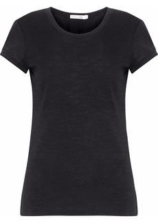 Rag & Bone Woman Slub Cotton And Modal-blend Jersey T-shirt Black