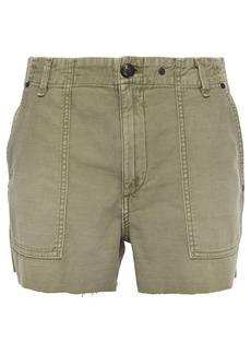 Rag & Bone Woman Slub Cotton Shorts Army Green