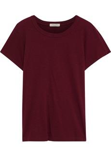Rag & Bone Woman Slub Organic Pima Cotton-jersey T-shirt Plum