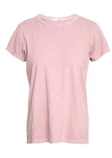 Rag & Bone Woman Slub Pima Cotton-jersey T-shirt Blush