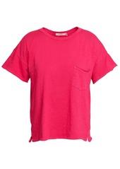 Rag & Bone Woman Slub Pima Cotton-jersey T-shirt Bright Pink