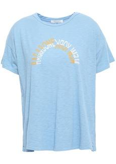 Rag & Bone Woman Slub Pima Cotton-jersey T-shirt Light Blue