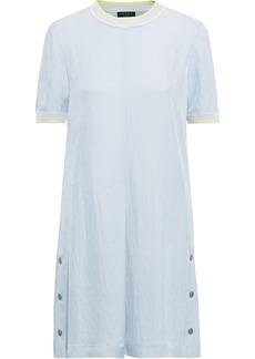 Rag & Bone Woman Solo Snap-detailed Pleated Twill Mini Dress Sky Blue