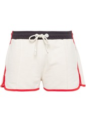 Rag & Bone Woman Sport Blocked French Cotton-terry Shorts Ivory