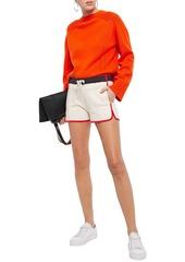 Rag & Bone Woman Sport Blocked French Cotton-terry Shorts Ivory