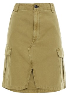 Rag & Bone Woman Striped Cotton-canvas Skirt Army Green