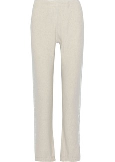 Rag & Bone Woman Racer Striped Mélange French Cotton-terry Track Pants Off-white