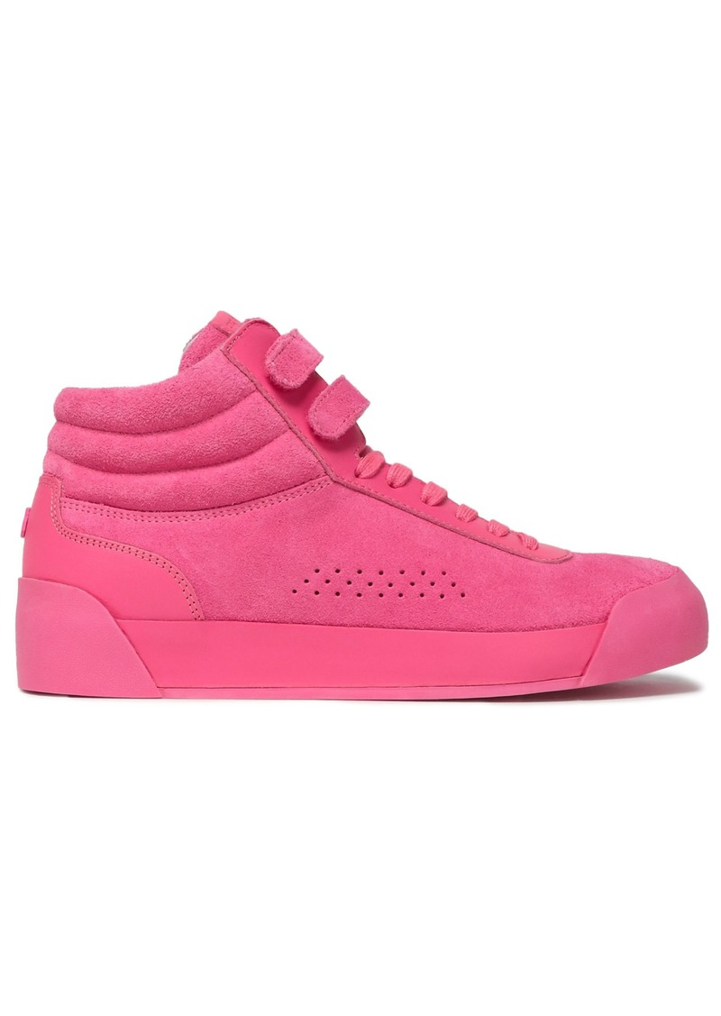Rag & Bone Woman Suede And Leather Sneakers Pink