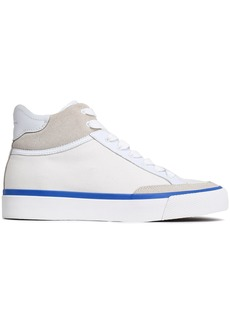 Rag & Bone Woman Suede And Leather-trimmed Canvas Sneakers White